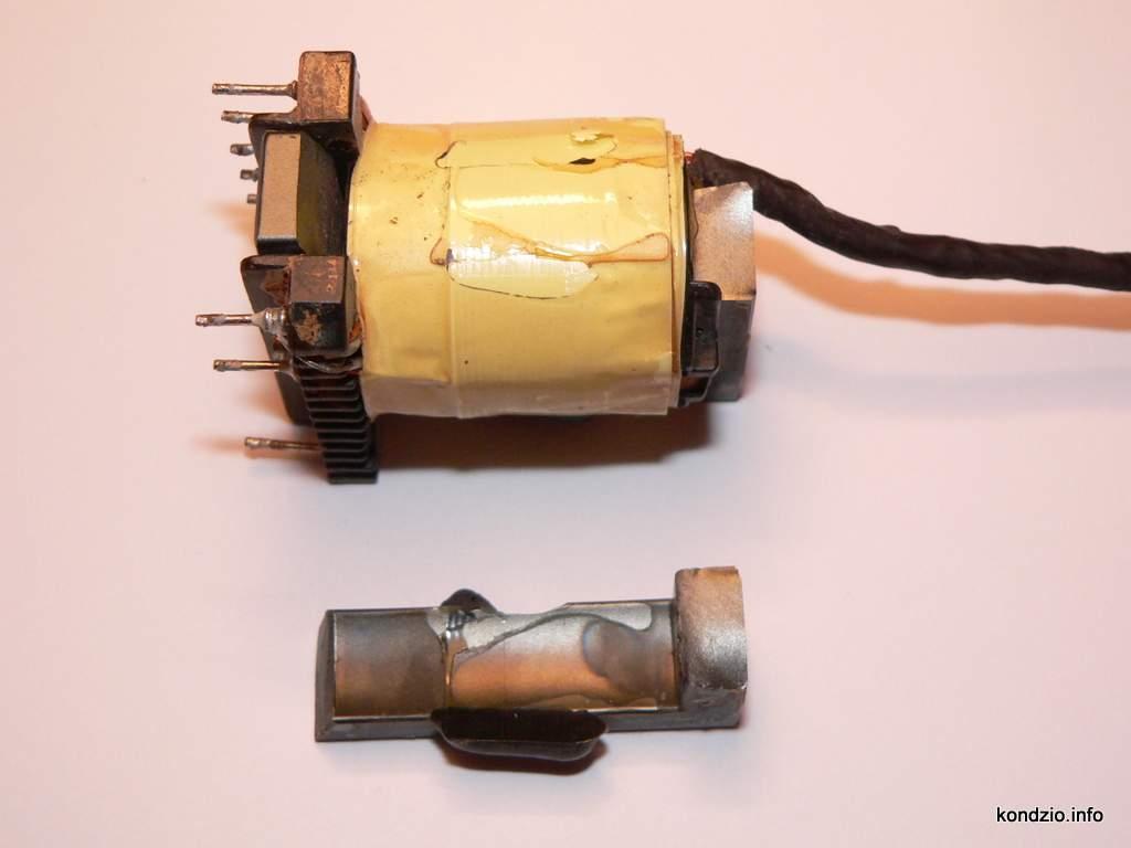 transformator impulsowy - uszkodzony